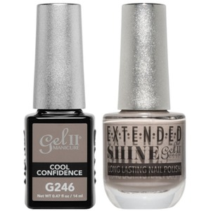 La Palm Gel II No Base Coat Gel Polish + Matching Extended Shine Polish - True Beauty Nude Collection - COOL CONFIDENCE (#G246 - #ES246)