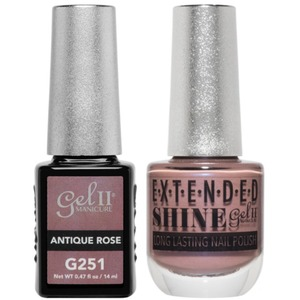 La Palm Gel II No Base Coat Gel Polish + Matching Extended Shine Polish - Essence of Autumn Collection - ANTIQUE ROSE (#G251 - #ES251)