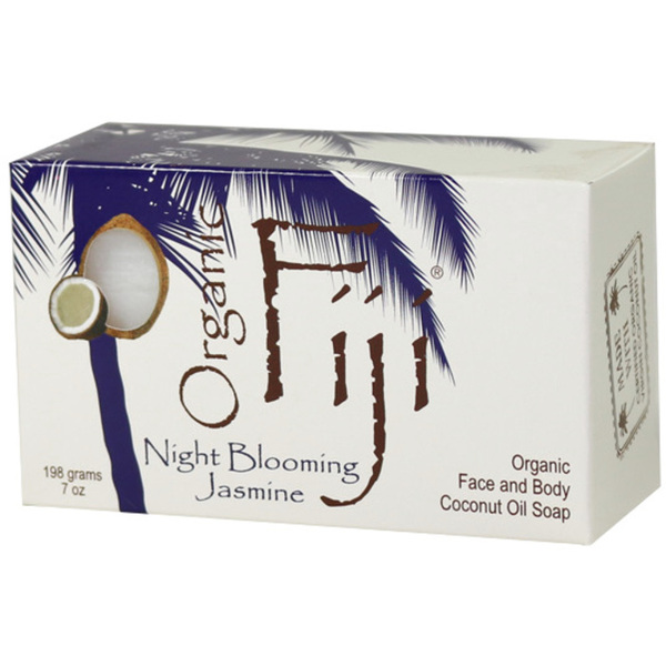 Night Blooming Jasmine Certified Organic Cold Pressed Coconut Oil Soap Cleanser for Face & Body 7 oz. Bars Case of 24 Bars (833884001265)