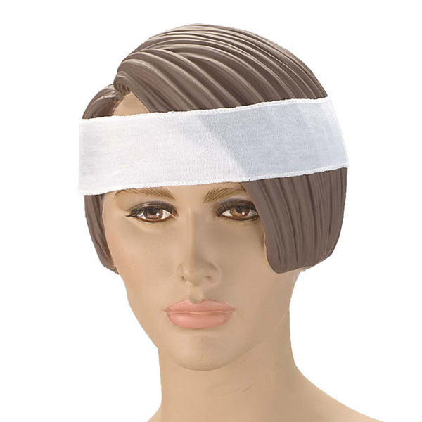 "Disposable Headband - Poly Cotton - 2"" Wide 480 Pack (90549 X 10)"