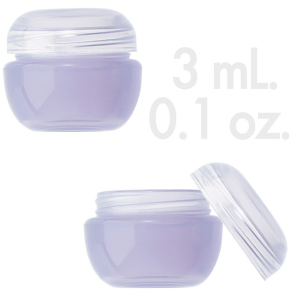 Violet Beauty Pot with Lid 0.1 oz. - 3mL. 1000 Count (29856 X 1000 + 29857 X 1000)