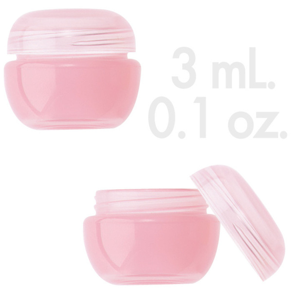 Rose Beauty Pot with Lid 0.1 oz. - 3mL. 1000 Count (29860 X 1000 + 29861 X 1000)