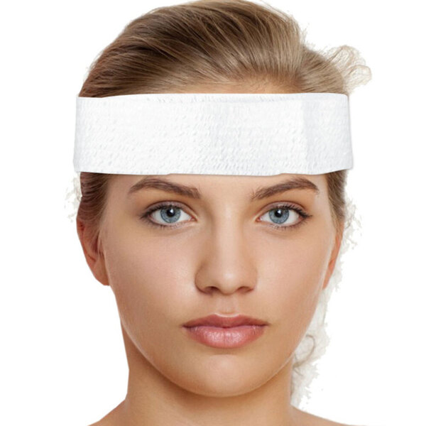 "LYCRA HyFit Disposable Stretch Headband - 2"" Wide 384 Pack (90560 X 16)"