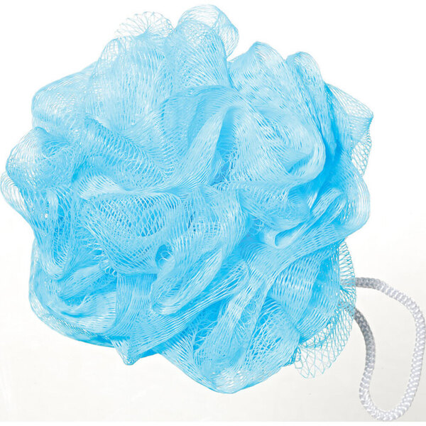 Mesh Sponge Bath Pouf - Light Blue 150 Pack (96588 X 150)