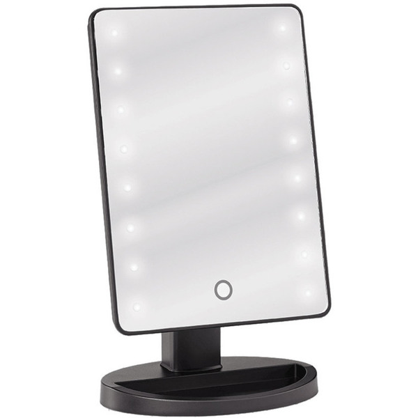 LED Lighted Table Top Cosmetic Mirror - Black Pack of 4 (513558 X 4)