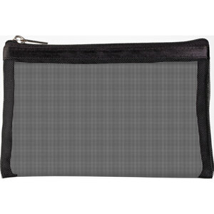"Simply Mesh - Small Pouch with Zipper Closure - Black 6.5"" x 4"" Pack of 48 - Individually Wrapped (59924 X 48)"