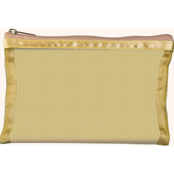 "Simply Mesh - Small Pouch with Zipper Closure - Gold 6.5"" x 4"" Pack of 48 - Individually Wrapped (59927 X 48)"