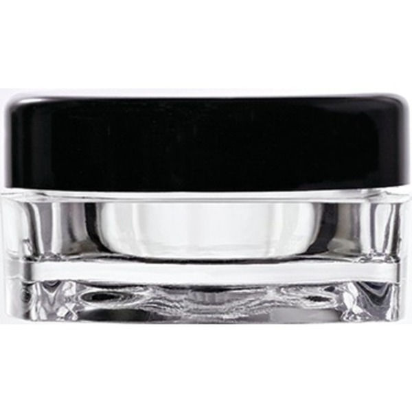 Clear Square Sample Jars with Black Round Caps - 0.1 oz - 3 mL. 500 Pack (29344 X 10)