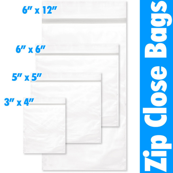 "Zip Close Bag - 6"" X 6"" 100 Pieces per Pack X 18 Packs = 1800 Bags (599905 X 18)"
