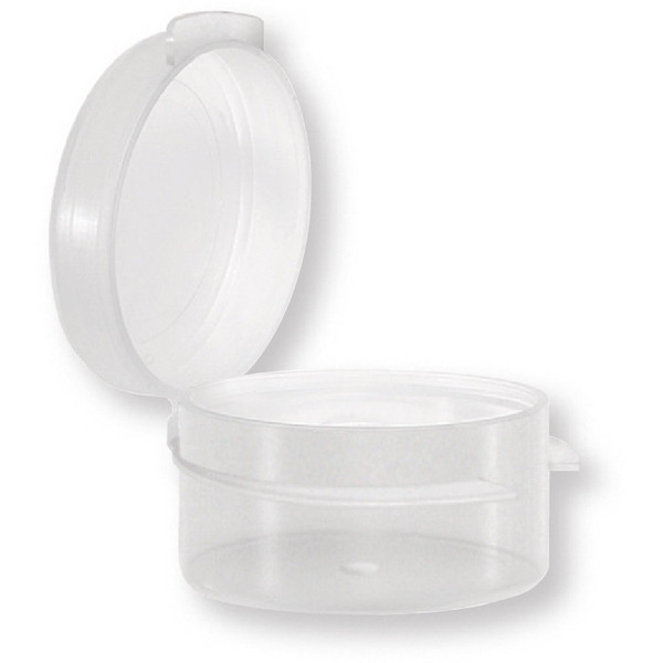 Round Hinged Jar - Clear - 0.18 oz. Case of 1000 Jars (29297 X 2)