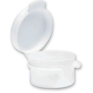 Round Hinged Jar - White - 0.11 oz. Case of 1000 Jars (29316 X 2)