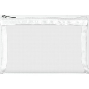"Simply Mesh - Small Pouch with Zipper Closure - White 6.5"" x 4"" Pack of 48 - Individually Wrapped (59942 X 48)"