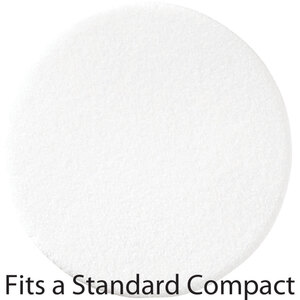 "Thin Round Flocked Puff with Buffed Edge - White - 2.2"" Diameter x 0.12"" Thick 360 Pack (20054 X 360)"