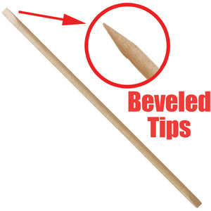 "Beveled Tips Birchwood Manicure Sticks - 4"" Long 144 Pieces Per Bag X 20 Bags = Case of 2880 Manicure Sticks (503758 X 20)"