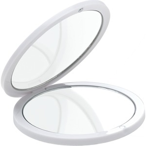 "Round Double Mirrored Compact - White - 2.95"" Diameter Case of 60 Individually Wrapped Compact (513559 X 60)"