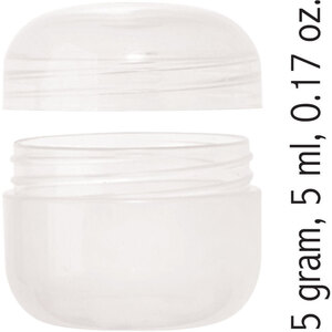 Sample Jar and Threaded Cap - Natural 5 gram 5 ml 0.17 oz. Case of 500 (29725 X 500)