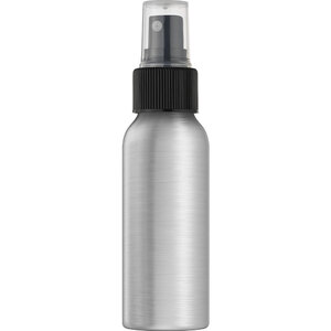 Aluminum Bottle with Black Sprayer and Clear Overcap 80 mL. - 2.67 oz. Case of 70 (29597 X 70)