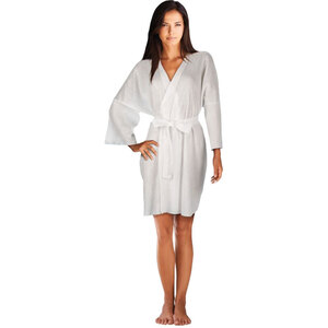 "Disposable Non-Woven Kimono Robe - White - One Size 36"" Long 36 Pack (504260 X 36)"