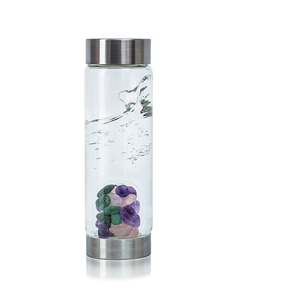 VitaJuwel ViA - Gem Water Bottle - Beauty: Amethyst + Aventurine Quartz + Rose Quartz (01VJVIAAMRQAV)