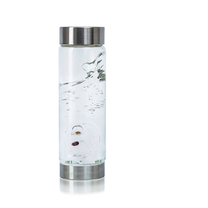 VitaJuwel ViA Crystal Edition - Gem Water Bottle - Golden Moments: Rhinegold + Halite Salt + Garnet (01VJVIAMEGOHAGR)