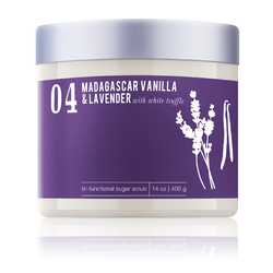 Madagascar Vanilla & Lavender With White Truffle - Tri-Functional Sugar Scrub 14 oz. Each - Case of 6 by MeBath (SS116)