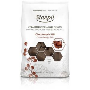 Starpil Chocolate - Stripless Hard Wax from Spain Non-Polymer 1 Kg. (2.2 Lbs.) Bag of Blocks X 4 Bags = 4 Kg. (8.8 Lbs.) Case (1522003 X 4)