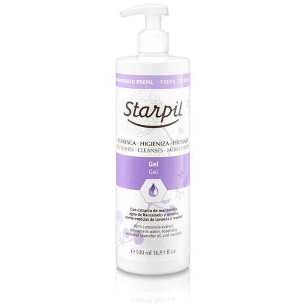 Starpil Pre Depilatory Gel from Spain 500 mL. (16.9 oz.) X 4 Bottles = 1 Case (1511010 X 4)