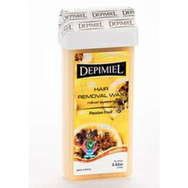 Depimiel - Soft Strip Wax From Brazil - Roll On Passion Fruit 3.52 oz. per Cartridge Case of 50 Cartridges (5243-Case)