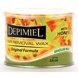 Depimiel - Soft Strip Wax From Brazil - Original Formula 14 oz. Cans Case of 12 Cans (5218-Case)