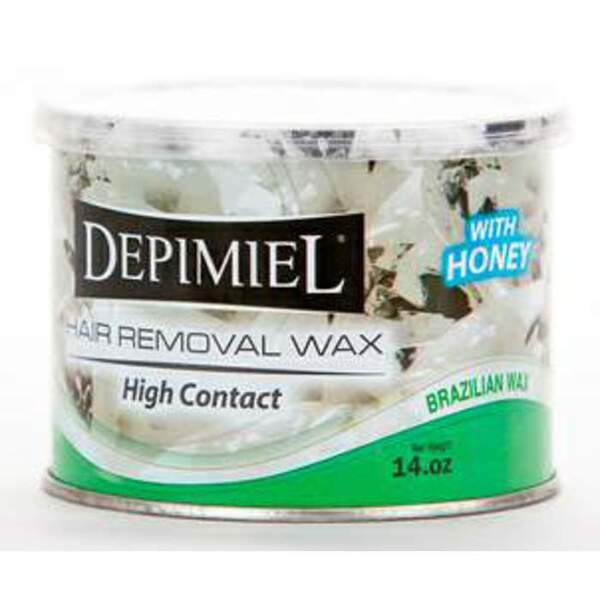 Depimiel - Soft Strip Wax From Brazil - High Contact 14 oz. Cans Case of 12 Cans (5228-Case)