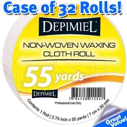 "Depimiel - Non-Woven Epilating Rolls 2.75"" x 55 Yards per Roll - Case of 32 Rolls (ROLLS-Case)"