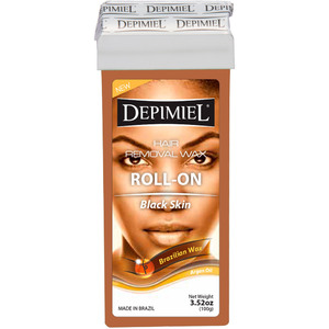 Depimiel - Soft Strip Wax From Brazil - Roll On Black Skin Formula 3.52 oz. per Cartridge Case of 50 Cartridges (5246-Case)