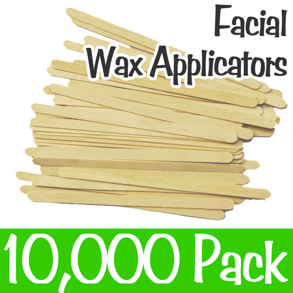 "Facial Waxing Sticks - 5"" Long x 0.25"" Wide 10 Boxes of 1000 = Case of 10000 (FS201)"