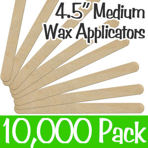 "Medium Waxing Sticks with Rounded Edge - 4.5"" Long x 38"" Wide 10 Bags of 1000 = Case of 10000 (114st)"