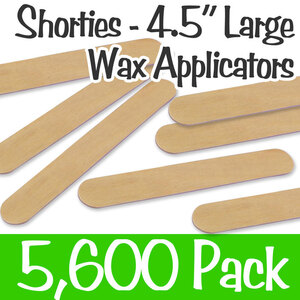 "Shorties - Large Waxing Sticks - 4.5"" Long x 0.6"" Wide Case of 5600 (STD-114)"