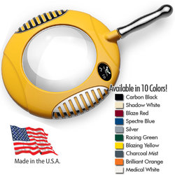"Green-Lite - 6"" Round Handheld LED Magnifier - Fully Dimmable with 3 Bank LED Adjustability Available in 10 Colors (40000-X)"