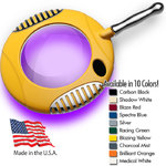 "Green-Lite - 6"" Round Handheld Combination UltravioletVisible LED Magnifier Wood's Light - Fully Dimmable with 3 Bank LED Adjustability Available in 10 Colors (40000-X-UV)"