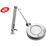 "ProVue Deluxe LED Magnifying Lamp 36"" Reach Arm + 5-Diopter (2.25X) Magnification + 72 High Intensity LED Lights (26501-DSG-LED)"