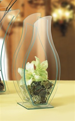 Convex Decor Vase - Green Edge Acrylic (1323)