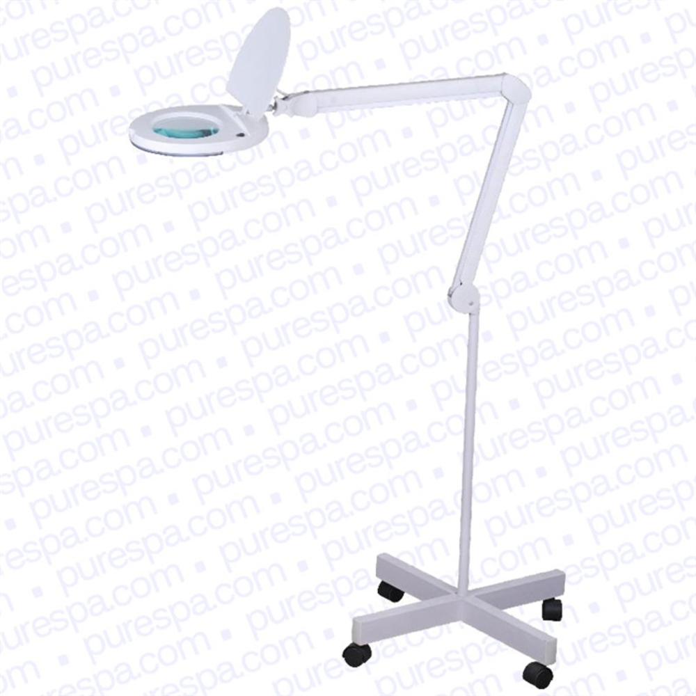 Magnus 5 diopter led magnifying lamp with floor stand for Floor standing led magnifying lamp