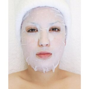 Plant & Vegetable Collagen Mask - Eucalyptus Wet Collagen Mask Pack of 20 - Each Pre-Moistened 100% Natural and Paraben Free Mask is Single Use (MS2802 X 20)