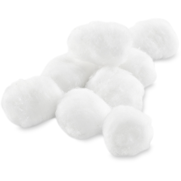 Cotton Balls - Large 100 per Bag X 48 Bags = Case of 4800 Large Cotton Balls (0235921 X 48)