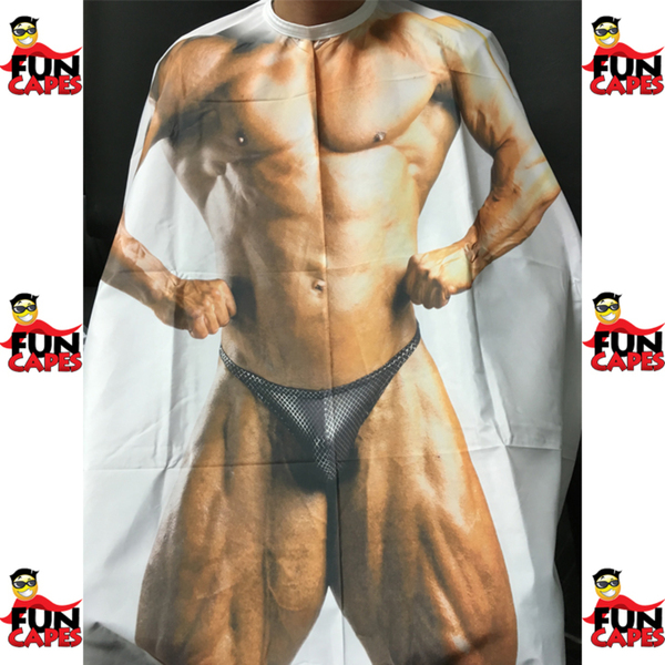 Body Builder - Adult Cutting Cape (SF205A)