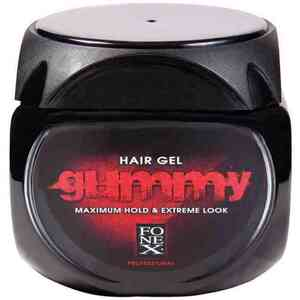 Gummy Hair Gel Maximum Hold & Extreme Look - Red 23.5 oz - 700 mL. (GU101A)