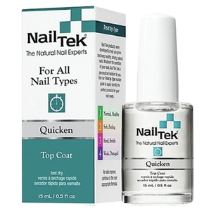 NAIL TEK Quicken Fast Drying Top Coat 0.5 oz. (55824)