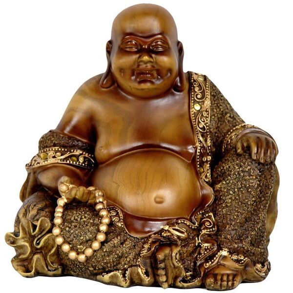 "6"" Sitting Laughing Buddha Statue (STA-BUD18)"
