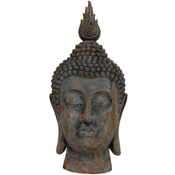 "25"" Thai Rust Patina Buddha Head Statue (STA-BUD36)"