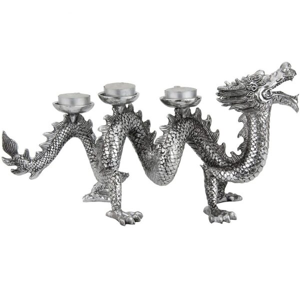 "14"" Plated Dragon Statue (STA-DRAGON4)"