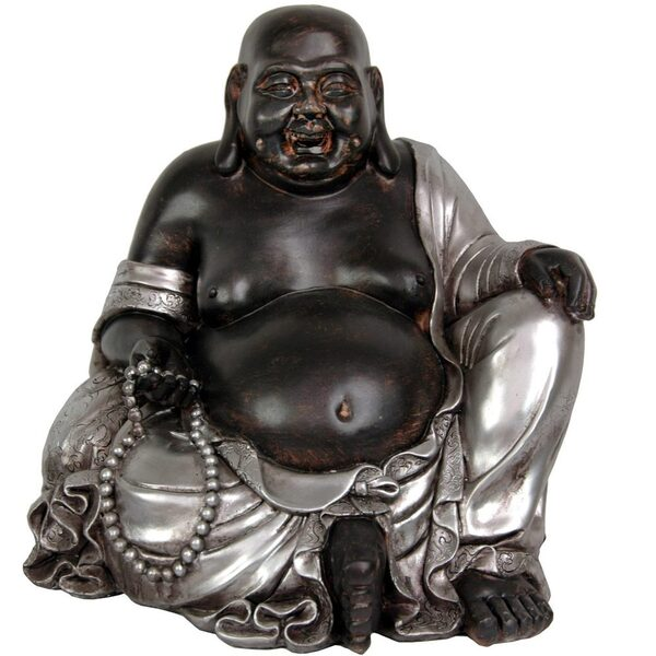 "11"" Sitting Happy Buddha Statue (STA-BUD12)"