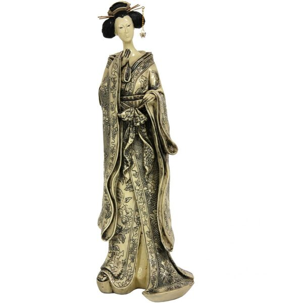 "17"" Geisha Figurine with Small Bow Kimono (STA-GSH4)"